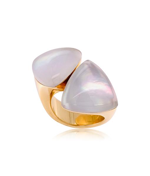 Vhernier Freccia Rock Crystal Mother Pearl Ring