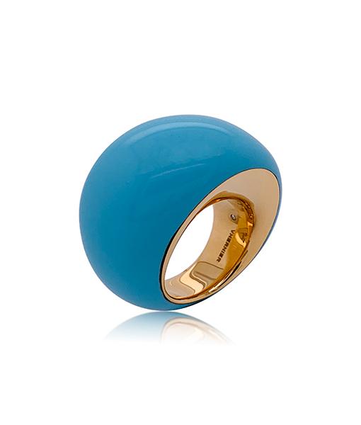 Vhernier Pirouette Turquoise Ring Diamonds