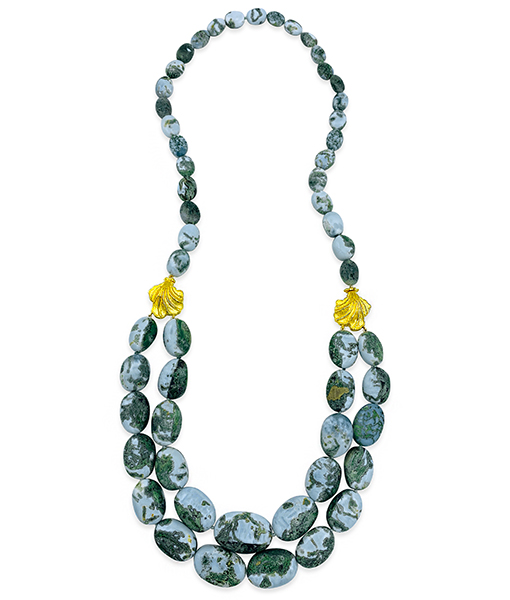 Victor Velyan Opal Bead Necklace