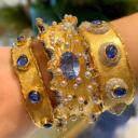 Victor Velyan Sapphire Cuffs