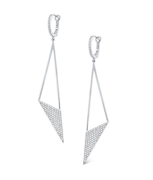 Diamond Triangle Earrings