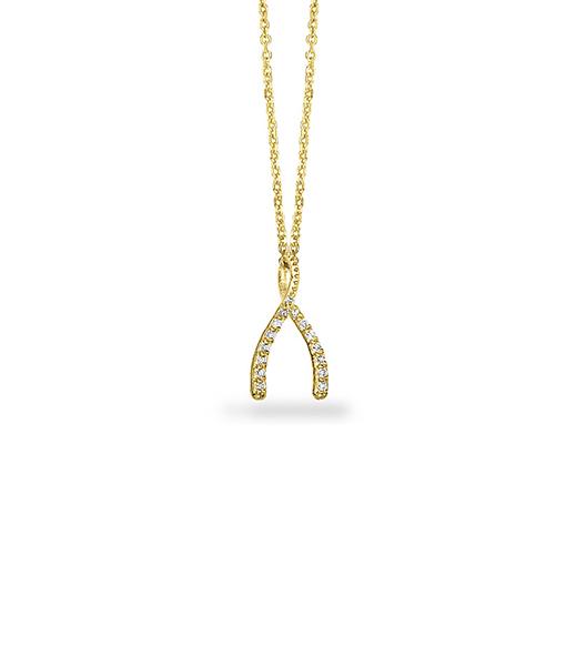 Whishbone Diamond Necklace