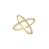 KC Diamond Contemporary X Ring