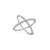 Diamond Contemporary X Ring