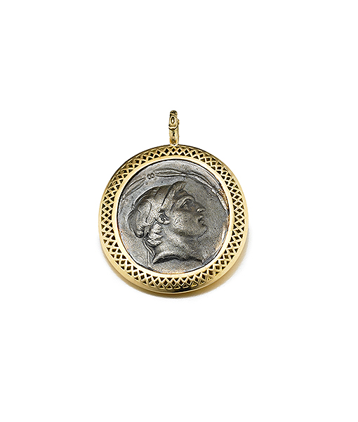 Ray Griffiths Greek Motif Coin Pendant on SALE!