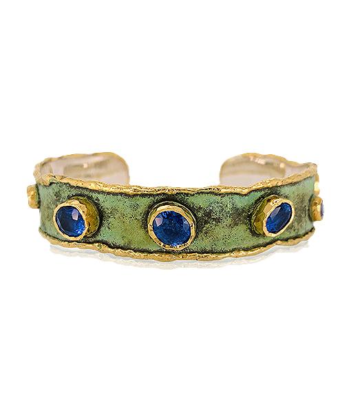 Victor Velyan Blue Sapphire cuff