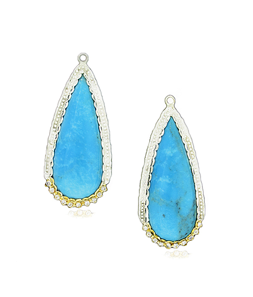 Victor Velyan Turquoise earring drops