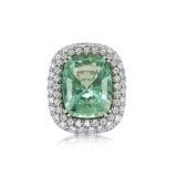 Beryl and Diamond Ring