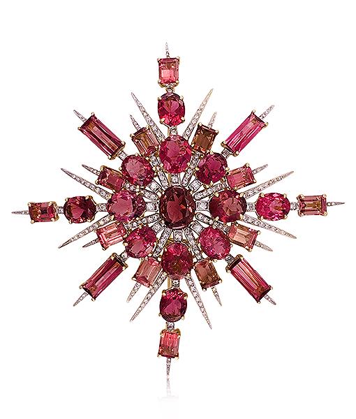 Tony Duquette Tourmaline and Diamond Pendant