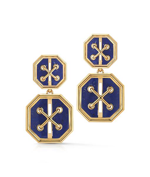 David Webb Cross Stitch Earrings