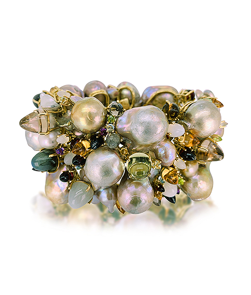 Tony Duquette Pearl and Gemstone Bracelet
