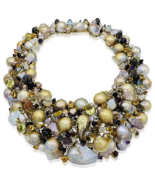 Tony Duquette Pearl Collar Necklace