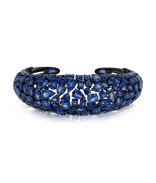 Etho Maria Blue Sapphire and Diamond Bracelet