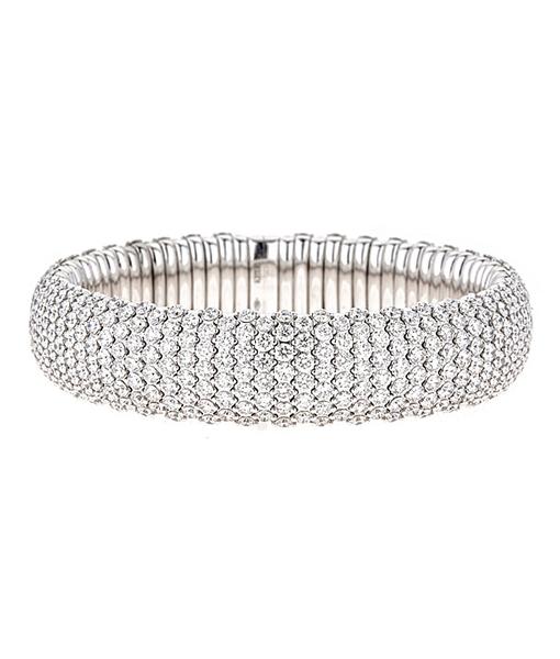 Zydo Stretch Curved Bracelet with Diamonds