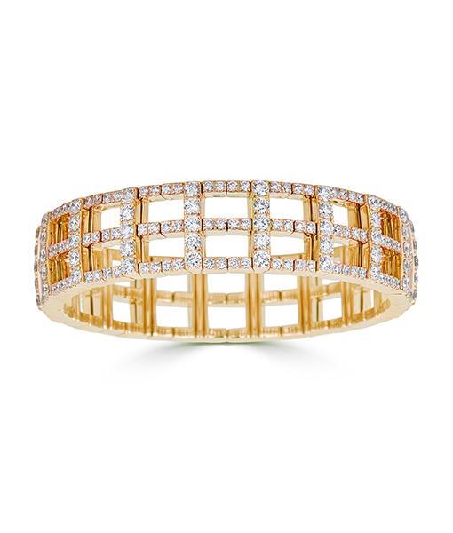 Zydo Expandable Cage Bracelet with Diamonds