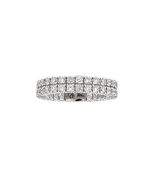 Zydo Double Row Expandable Diamond Ring