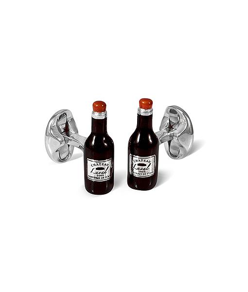 Deakin & Francis Chateau Laval Wine Bottle Cufflinks