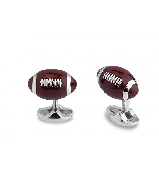 Deakin & Francis Sterling Silver American Football Cufflinks