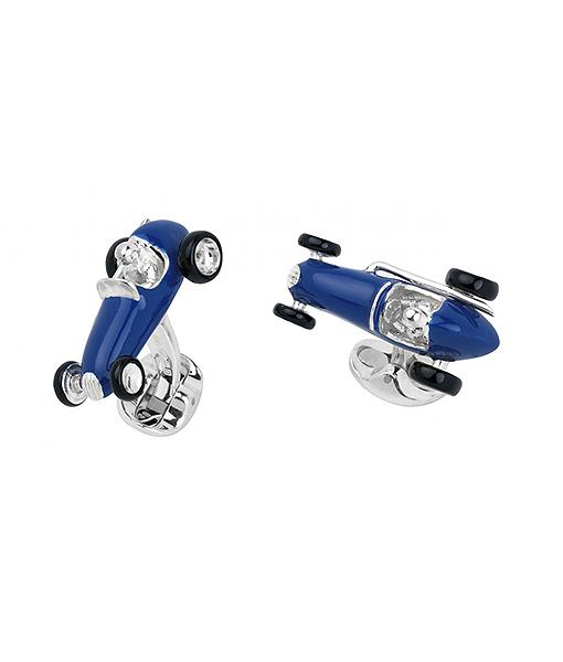 Deakin & Francis Blue Racing Car cufflinks