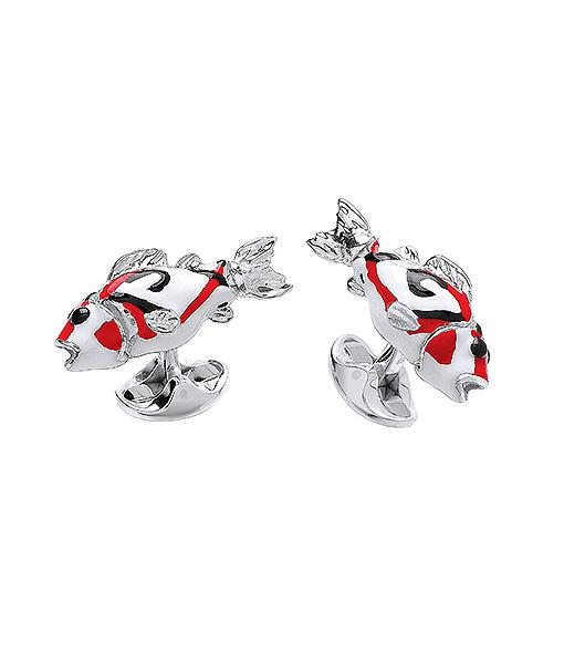 Deakin & Francis Sterling Silver Coy Fish Cufflinks