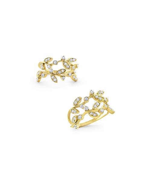 KC Diamond Leaf Design Ring