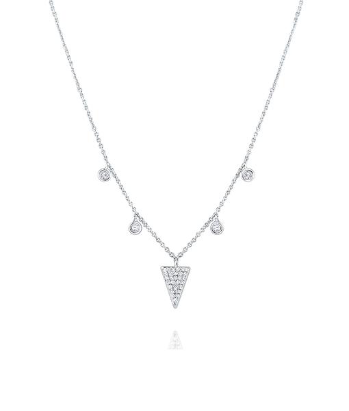 Five Station Diamond Necklace