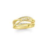 KC Diamond Bevel Set Basket Weave Ring