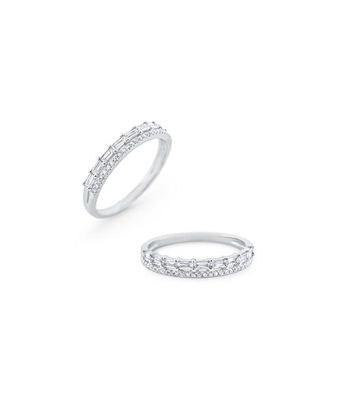 KC Double Row Diamond Mosaic Ring