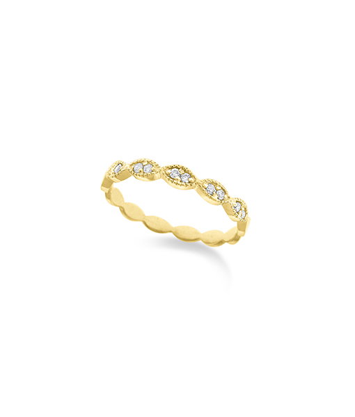 KC Diamond Marquise Shaped Stackable Ring
