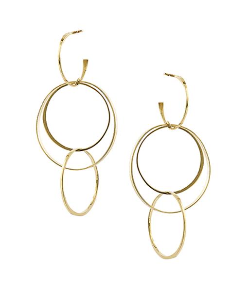Lana Medium Flat Bond Earrings on SALE