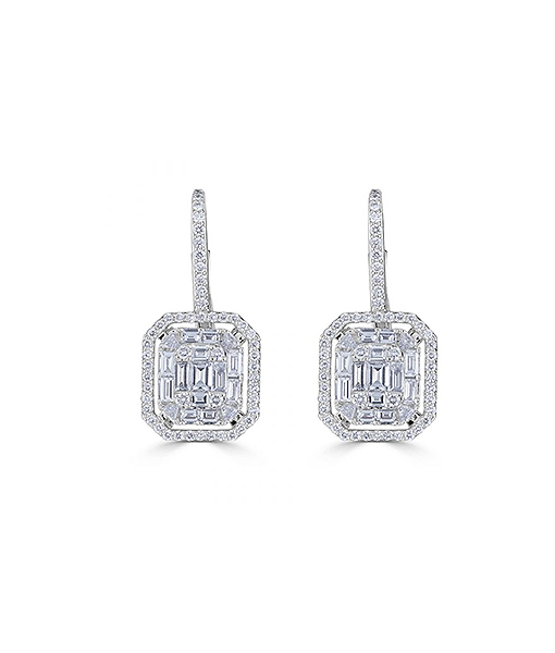 Zydo Mosaic Octagonal Diamond Earrings
