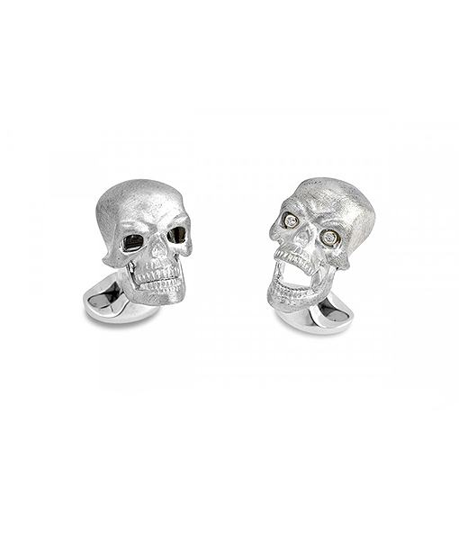 Deakin & Francis Skull with Diamond Eyes Cufflinks