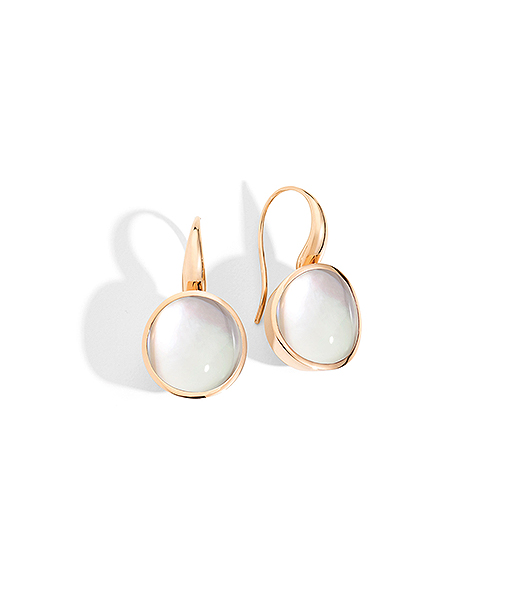 Vhernier Giotto Picco Rock Crystal Mother of Pearl Earrings