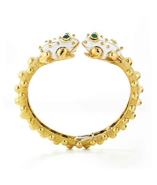 David Webb Twin Frog Bracelet