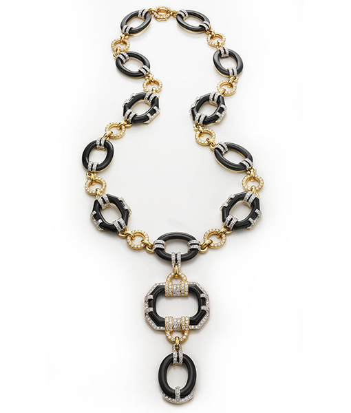David Webb Black Streamline Necklace