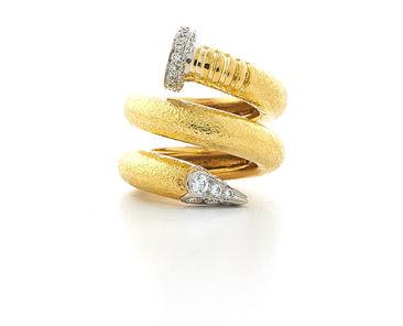 David Webb Tool Chest Collection Diamond Nail Ring
