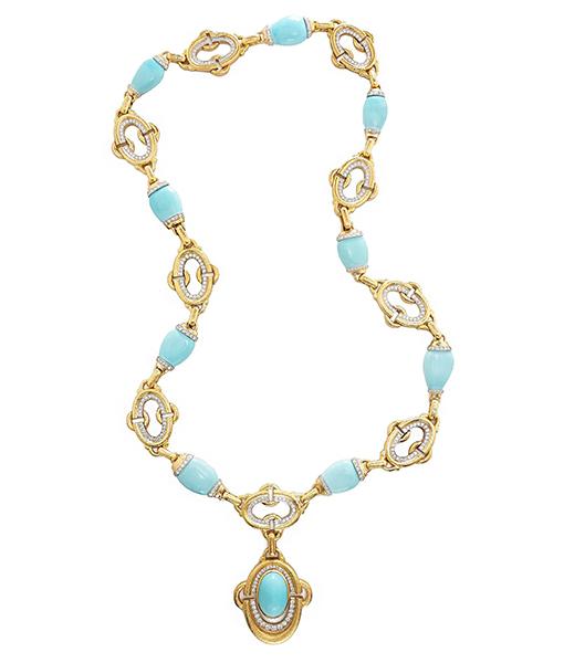 David Webb Nape Necklace Turquoise