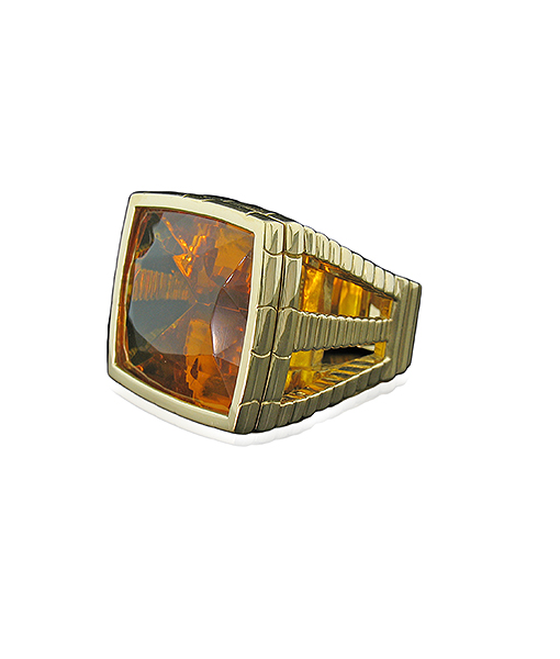 Tony Duquette Amber Ring