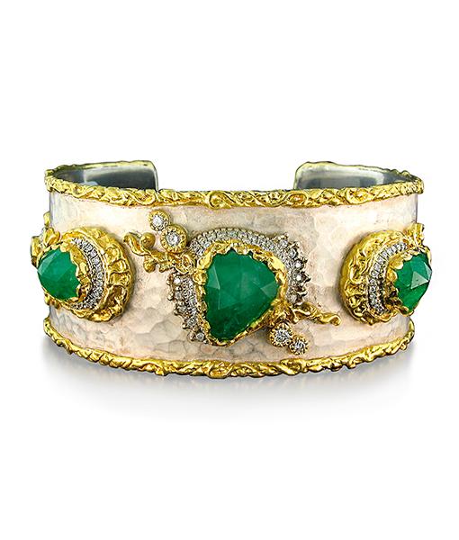 Victor Velyan Emerald Diamond Bracelet