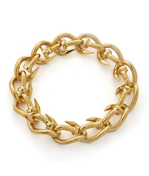 David Webb Bent Nail Link Bracelet