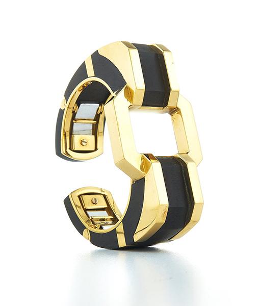 David Webb Ebony Polished Bracelet