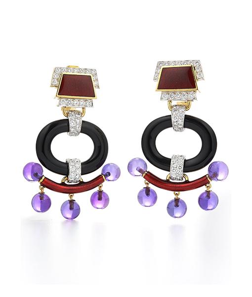 David Webb Pagoda Earrings