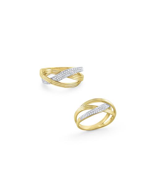 KC Interwoven Diamond Ring
