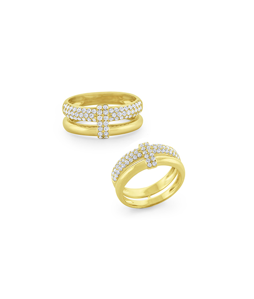 KC Diamond Pavé Overlay Ring