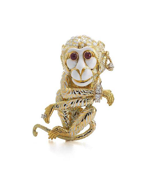 Gypsy Monkey Brooch