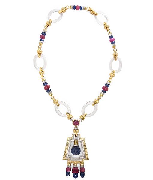 David Webb Ancient Altar Necklace