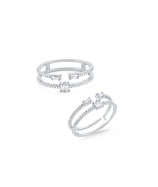 KC Diamonds Baguette Diamond Ring