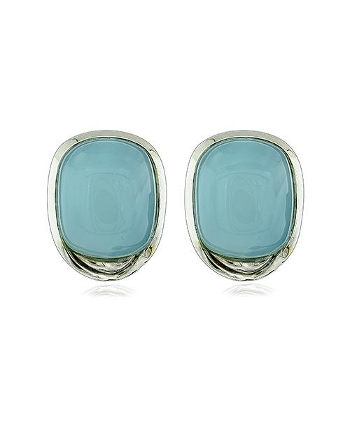 Tony Duquette Chalcedony Earrings