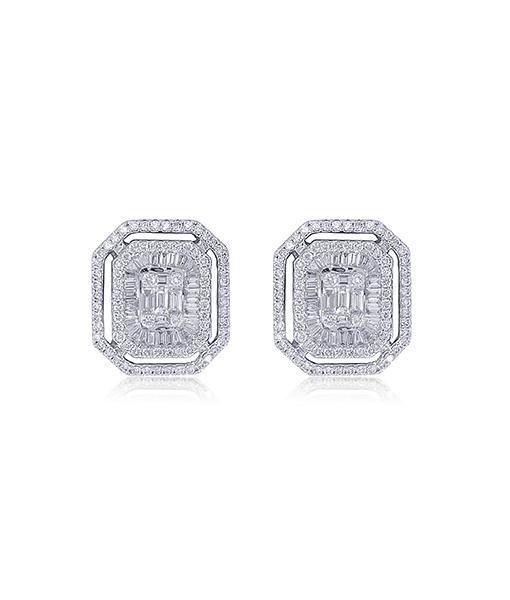 Zydo Square Diamond Mosaic Earrings