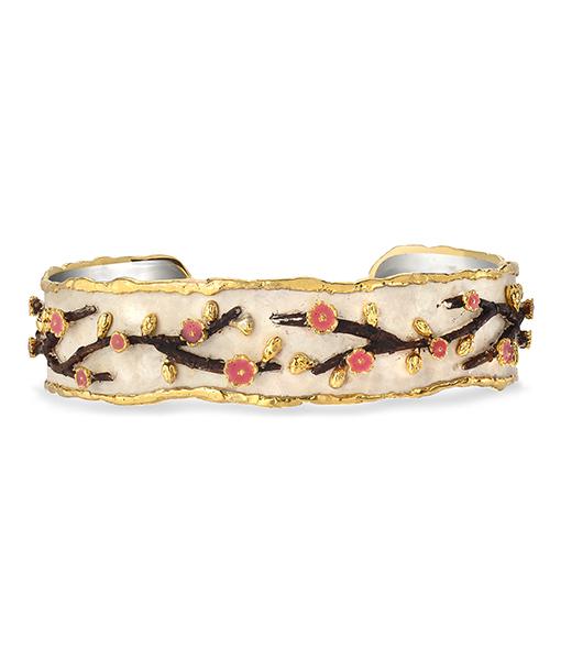 Victor Velyan Cherry Blossom Narrow Cuff